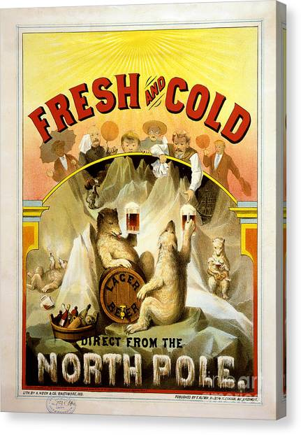 Lager Canvas Print - North Pole Lager by Jon Neidert