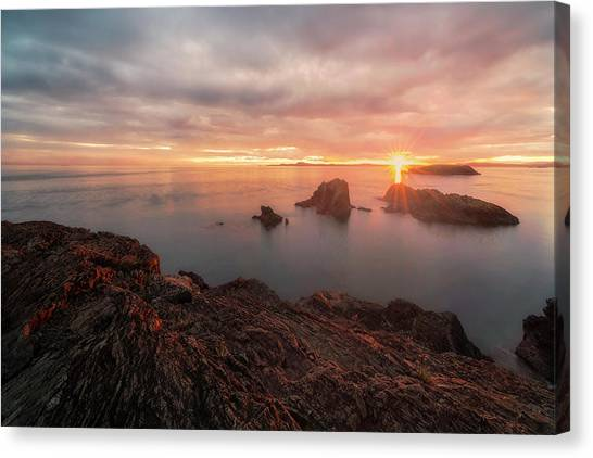 North Puget Sound Sunset Canvas Print