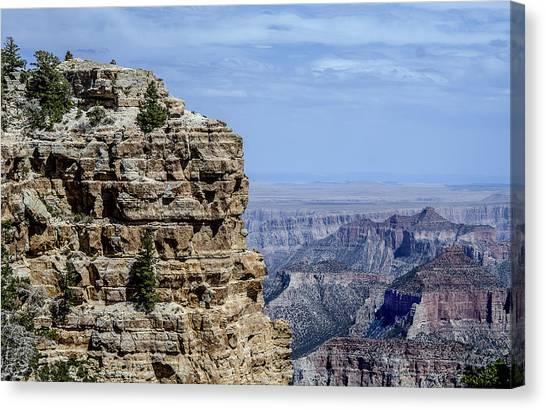 North Rim Layers Of Time Canvas Print