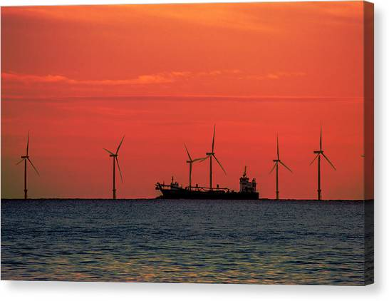 Wind Farms Canvas Print - North Sea Wind Farm by Martin Newman