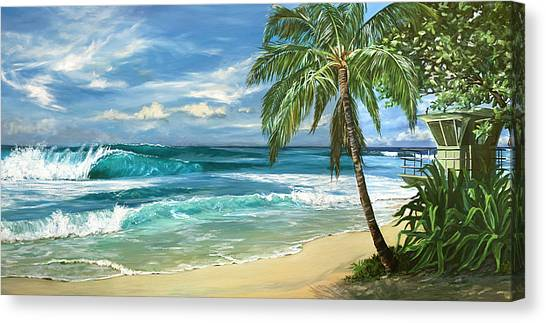Lifeguard Canvas Print - North Shore by Lisa Reinhardt