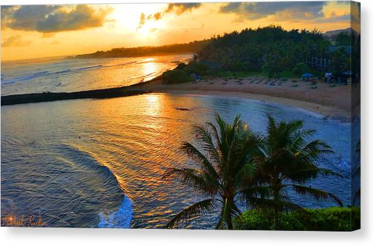 Canvas Print - North Shore Of Oahu  by Michael Rucker