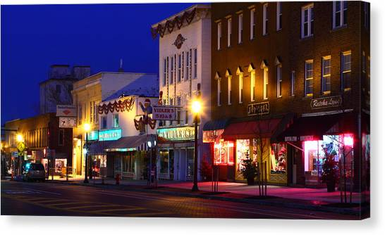 North Side Of East End Of Main Street Canvas Print