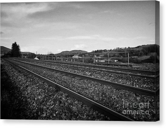 Brexit Canvas Print - North South Railway Line At Jonesborough Crossing The Irish Border  by Joe Fox