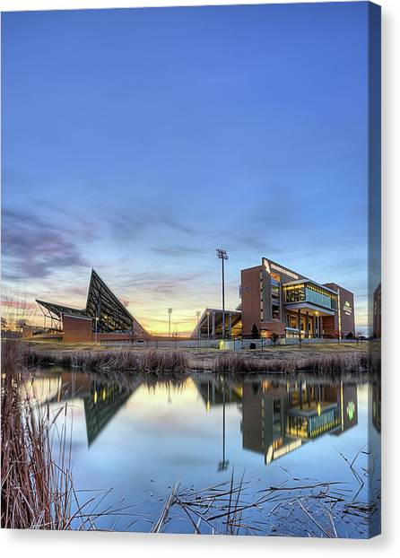 University Of North Texas Unt Canvas Print - North Texas Apogee Stadium by JC Findley