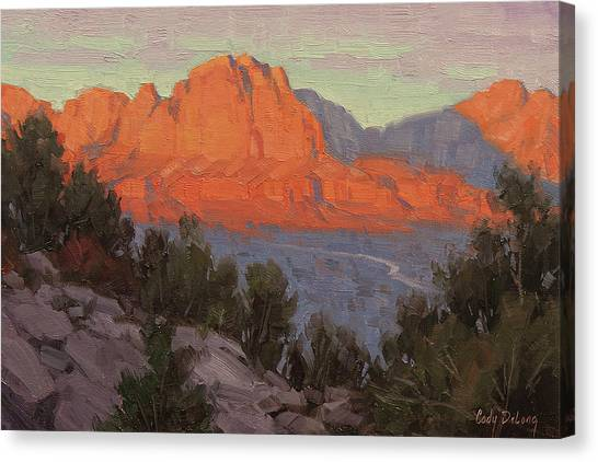Red Rock Canvas Print - North To Zion by Cody DeLong