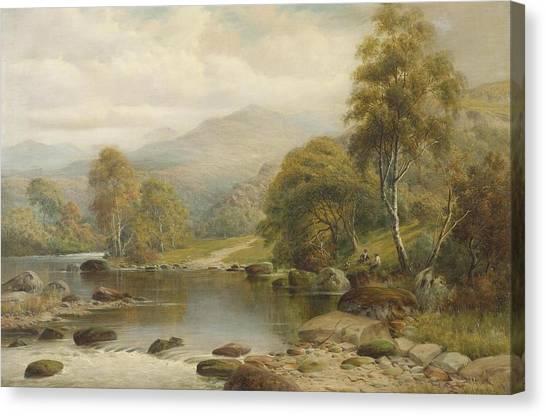 Glaslyn Canvas Print - North Wales by William Henry Mander