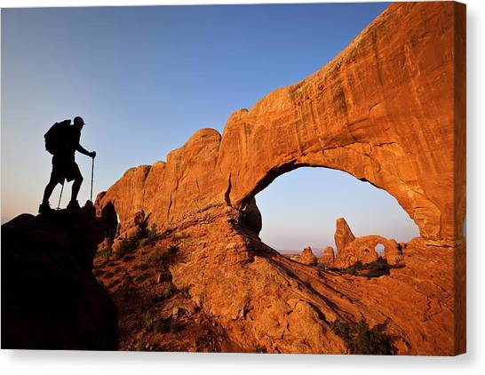 North Window Arch Canvas Print