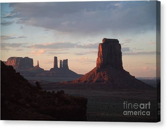 North Window At Sunset Canvas Print