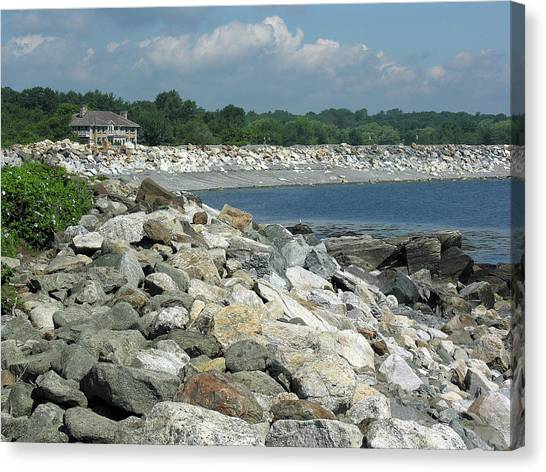 Northeast Us, Atlantic Coast, Rye Nh Canvas Print