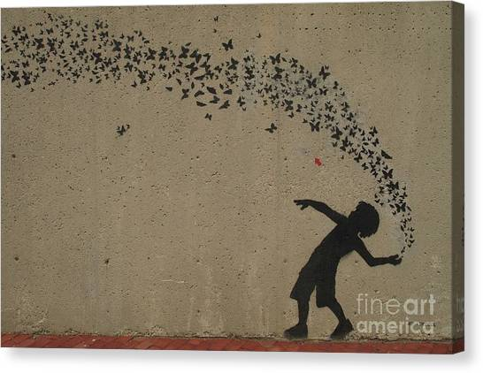 Northeastern University Canvas Print - Northeastern University Mural By Jef Aerosol by Tom Maxwell