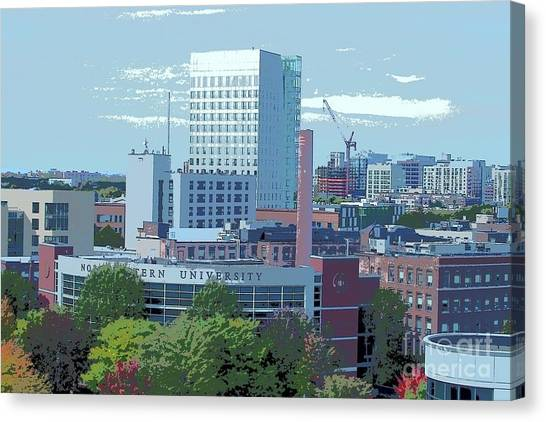 Northeastern University Canvas Print - Northeastern University by Tom Maxwell