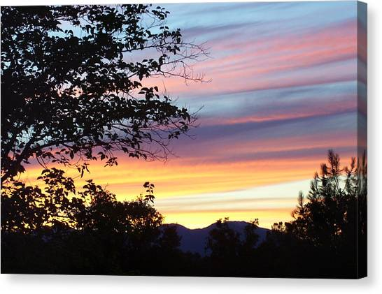 Northern Ca June Sunset  Canvas Print by Angie Anliker