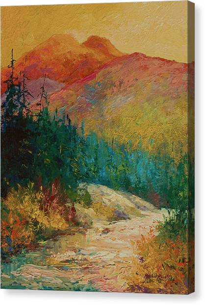 Mountain West Canvas Print - Northern Essence  by Marion Rose