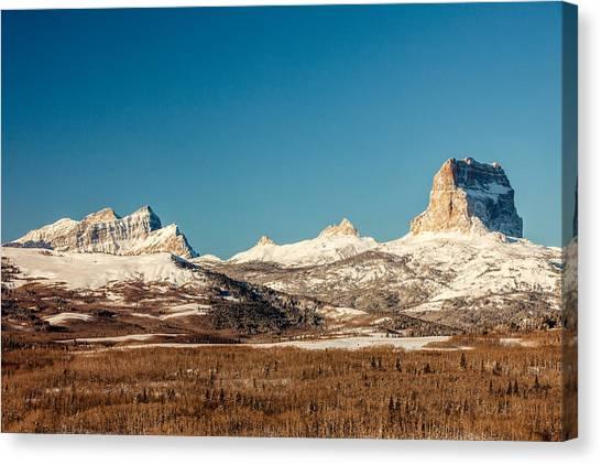Glacier National Park Canvas Print - Northern Glacier Mountains by Todd Klassy