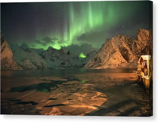 Northern Light In Lofoten, Nordland 1 Canvas Print