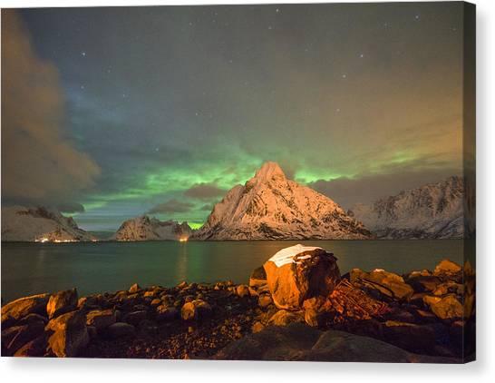 Spectacular Night In Lofoten 3 Canvas Print