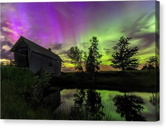 Northern Lights Reflection Canvas Print