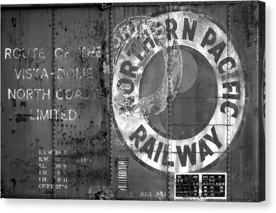 Vintage Railroad Canvas Print - Northern Pacific Railway Past by Todd Klassy