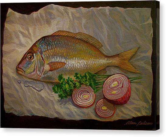 Northern Scup With Dill Onion Canvas Print by Alan Carlson