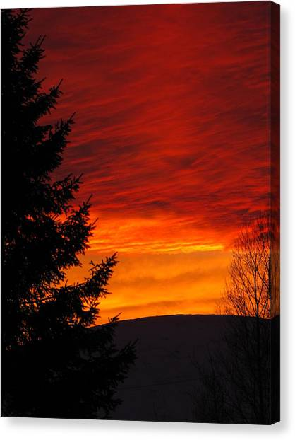 Northern Sunset 2 Canvas Print