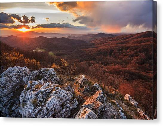Mountain Sunsets Canvas Print - Northern Territory by Davorin Mance
