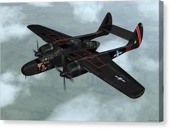 Northrop P-61 Black Widow Canvas Print
