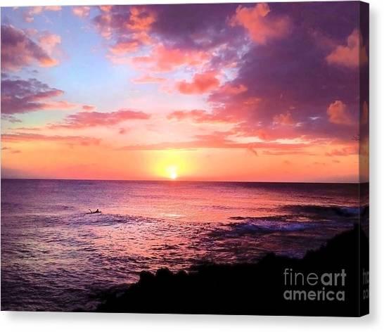 Northshore Sunset Canvas Print