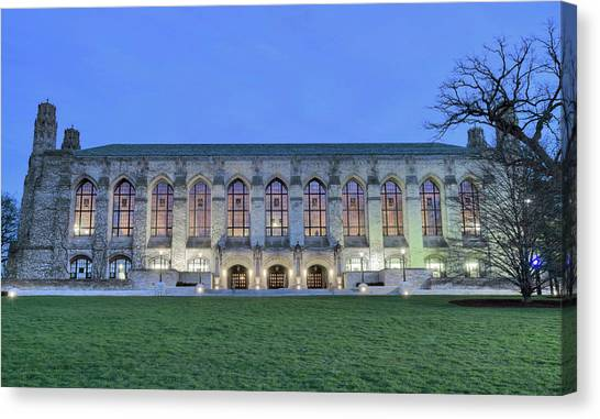 Northwestern University Canvas Print - Northwestern University - Deering Library by Jake Hill