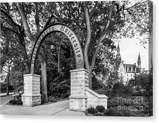 Degrees Canvas Print - Northwestern University The Arch by University Icons