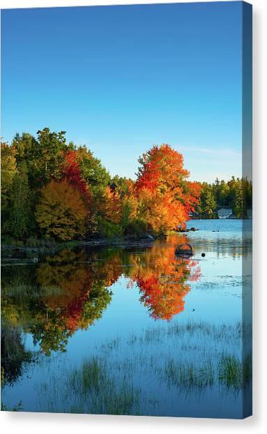 Northwood Lake Autumn Canvas Print