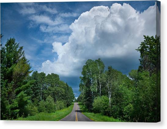 Cloud Forests Canvas Print - Northwoods Road Trip by Steve Gadomski