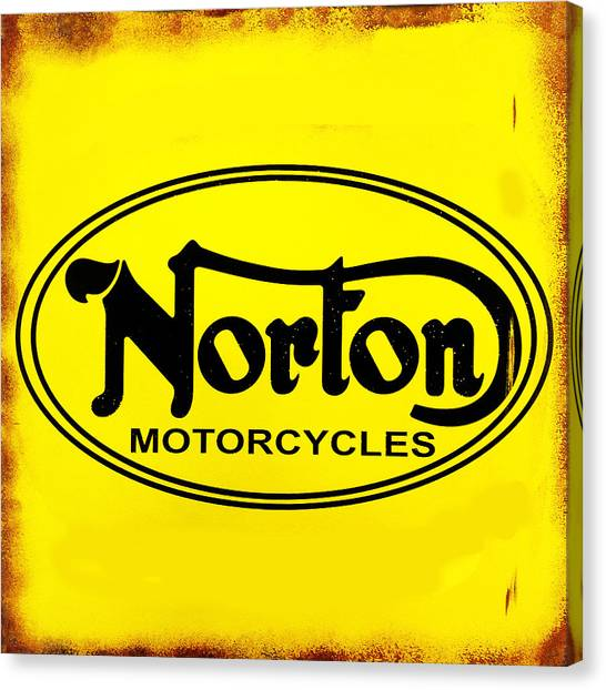 Vintage Canvas Print - Norton Motorcycles by Mark Rogan