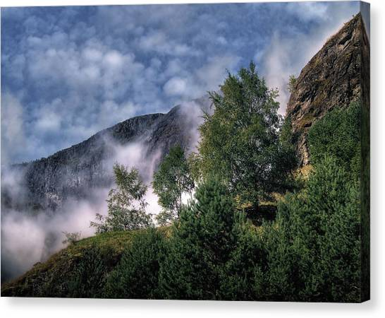 Norway Mountainside Canvas Print