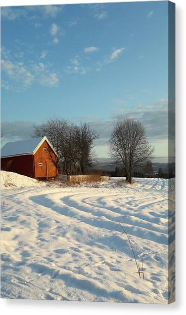 Norwegian Winter  Canvas Print