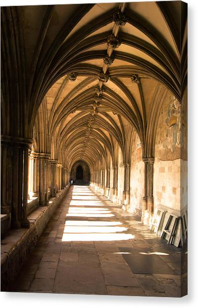 Norwich Cathedral Portico  Canvas Print