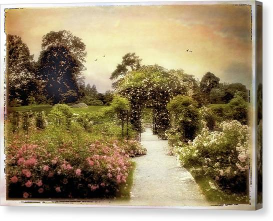 Summer Canvas Print - Nostalgia Of Roses by Jessica Jenney