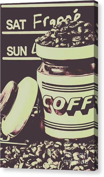 Coffee Shops Canvas Print - Nostalgic Cafe Art by Jorgo Photography - Wall Art Gallery