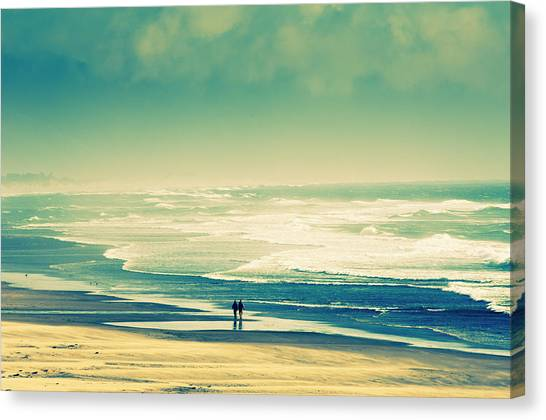 Nostalgic Oceanside Oregon Coast Canvas Print