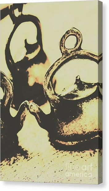 Tea Pot Canvas Print - Nostalgic Tea Break by Jorgo Photography - Wall Art Gallery