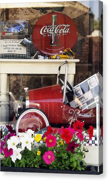 Nostalgic Window Display Canvas Print