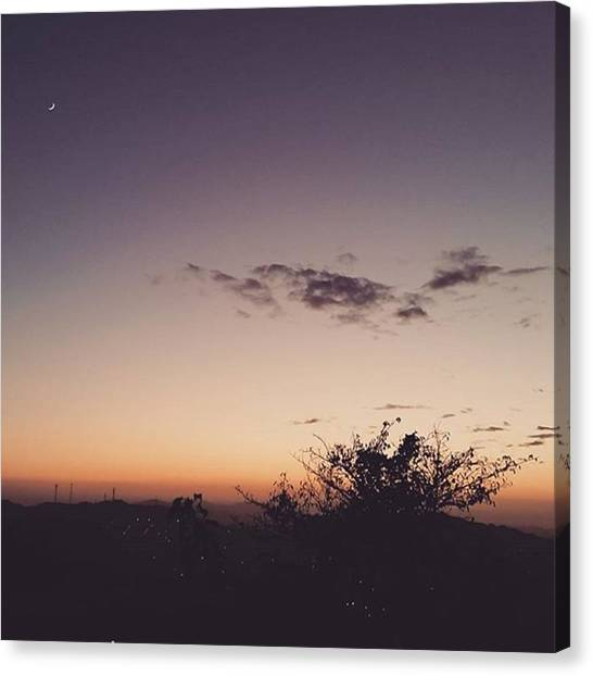 Pumpkins Canvas Print - Nostalgic.winter Sunset #sunset by Lady Pumpkin