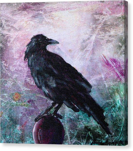 Not A Feather Then He Fluttered Canvas Print by Sandy Applegate