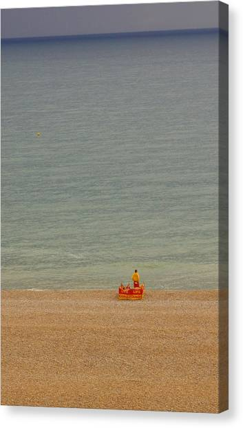 Not A Swimmer In Sight Canvas Print by Hilary Burt