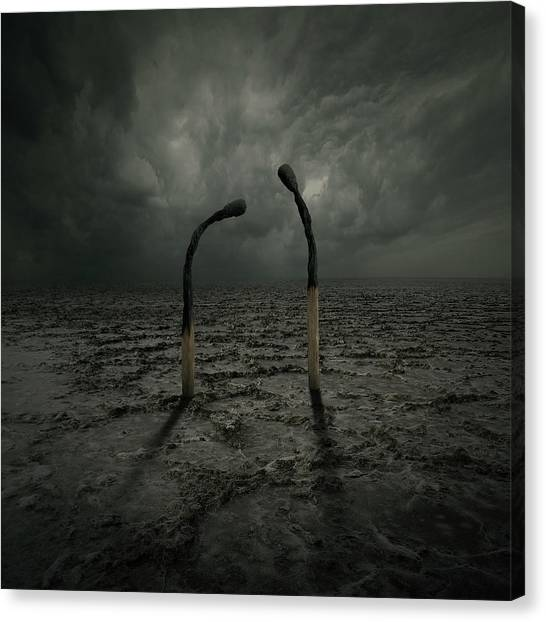 Storm Clouds Canvas Print - Not Arguing by Zoltan Toth