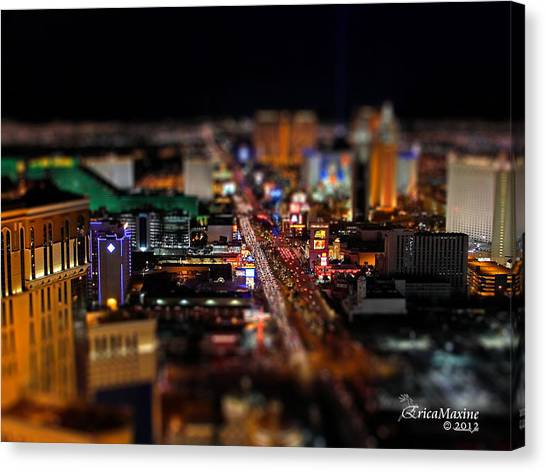 Not Everything Stays In Vegas - Tiltshift Canvas Print