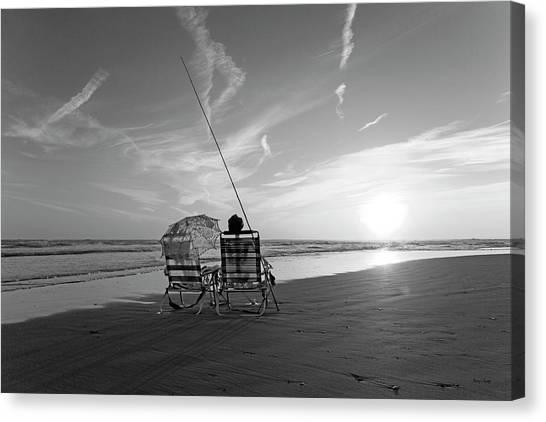 Fishing Poles Canvas Print - Not Fade Away by Betsy Knapp