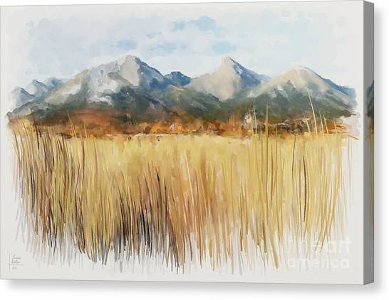 Canvas Print featuring the painting Not Far Away by Ivana Westin