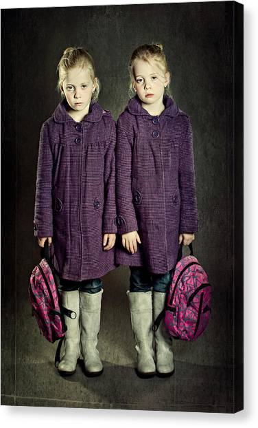 Mood Canvas Print - Not In The Mood For School! by Anita Meezen