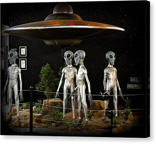 Canvas Print featuring the photograph Not Of This Earth by AJ Schibig